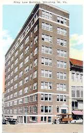 postcard picture of the Riley Building, now the Kaley Center